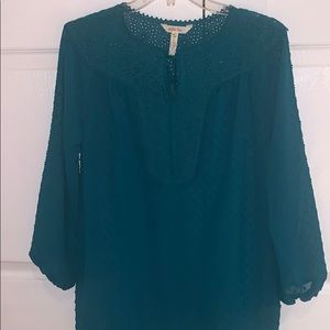 Matilda Jane Eyelet 3/4 Shirt, size small